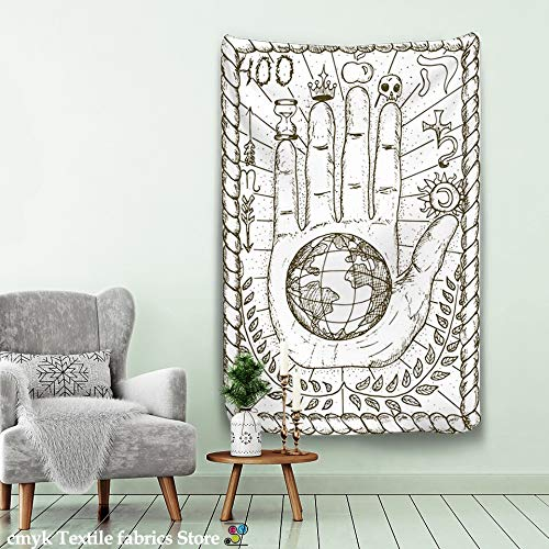 N / A Tarot Tapiz Colgante de Pared astrología adivinación Colcha Estera de Playa decoración del hogar Tapiz Tela de Fondo A2 73x95cm