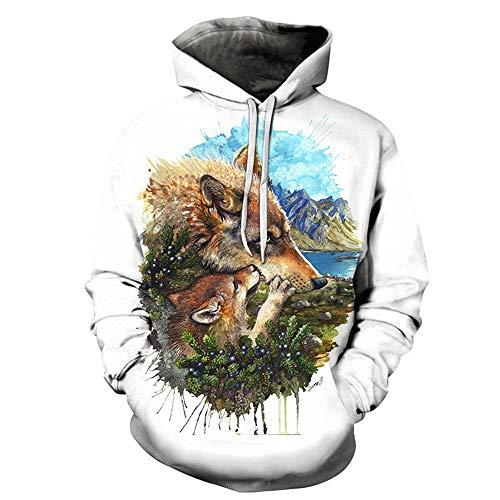 XIELH Pullover Wolf Cub moeder 3D print sweatshirts mannen hoodies Animal trainingspak gedrukt hoody pullover lange mouwen mantel