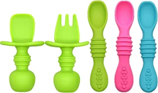 Baby Silicone Soft Spoons BPA Free, Food Grade Material Baby Utensils Feeding Set, Baby Led Weaning Spoon for First Stage ...