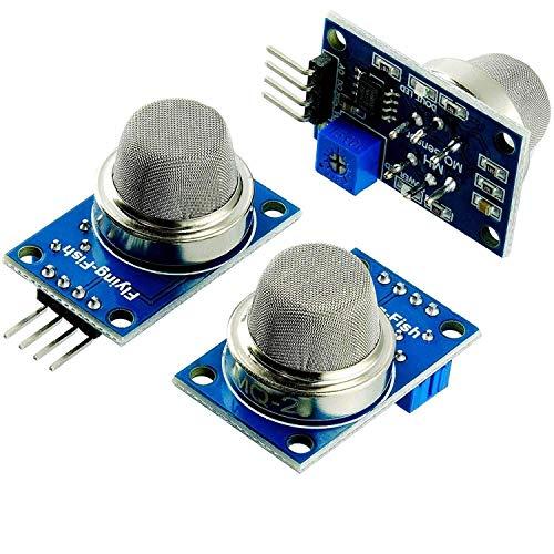 AZDelivery 3 x MQ-2 Modulo qualità dell'aria del sensore di gas incluso un E-Book!