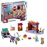 LEGO Frozen L'Avventura sul Carro di Elsa 41166, Carica il Carretto e Recati nel Paese delle Meraviglie di Disney Frozen II con Elsa e Sven, la renna, Set di Costruzioni per Bambini +4 Anni,
