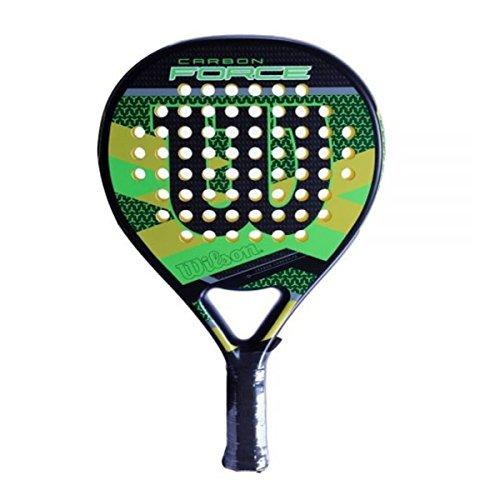 Wilson Padel-Schläger, Carbon Force, Unisex, grün/schwarz, EVA-Kern/Fiberglas, 365 Gramm, Auch für Beach-Tennis geeignet, WRT969500