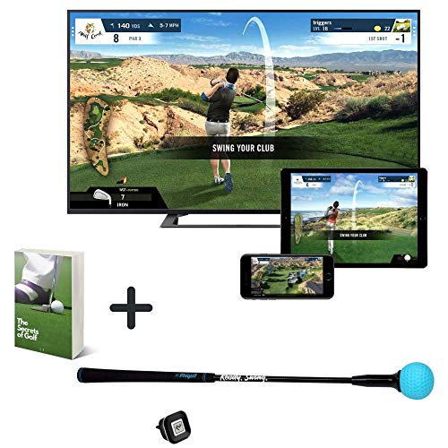 WGT Edition Phigolf Game Simulator, Updated Mobile & Home Golf Simulator with Swing Analyzer Golf Stick, Analyzers Your Putting & Blast Motion, Virtual Golf Simulators for Home Set with Ebook