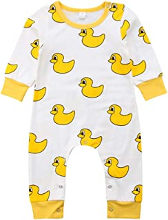 491ce3f5067 Anyozu Newborn Infant Baby Yellow Duck Sleeper Boy Girl Long Sleeve Romper  Jumpsuit Fall