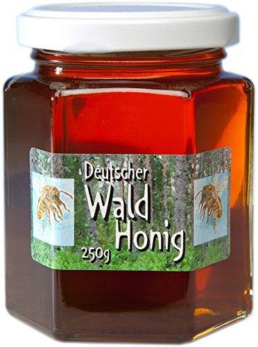 Deutscher Wald-Honig - 250g dunkler Waldhonig flüssig, unbehandelt, ohne Zusätze - Herkunft garantiert aus Deutschland