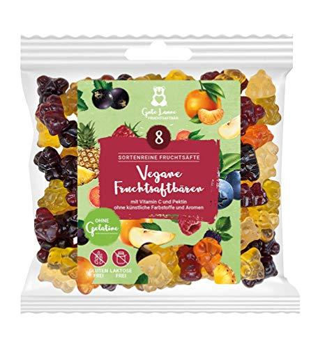 naschlabor x Fruchtsaftbär mit Herz |Vegan| 20% sortenreine Fruchtsäfte | Ohne künstliche Farbstoffe und Geschmacksverstärker| Gluten- und Laktosefrei
