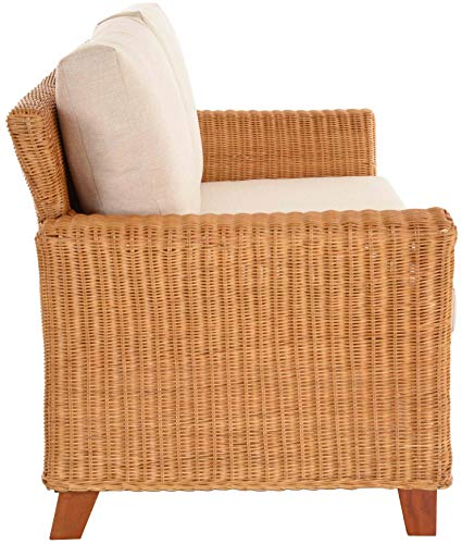 Rattan Wohnzimmersofa Comte inkl. Polster Wohnzimmer Sofa Couch Rattansofa Flechtsofa Korbsofa (3-Sitzer) - 3