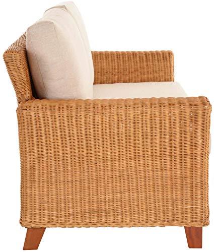 Rattan Wohnzimmersofa Comte inkl. Polster Wohnzimmer Sofa Couch Rattansofa Flechtsofa Korbsofa (3-Sitzer) - 5
