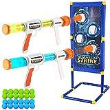 JOYIN Foam Ball Popper Gun Toy Set with Standing Shooting Target, Foam Ball Popper Air Toy Guns, 24 Foam Balls, Shooting Game for Kids Indoor Play