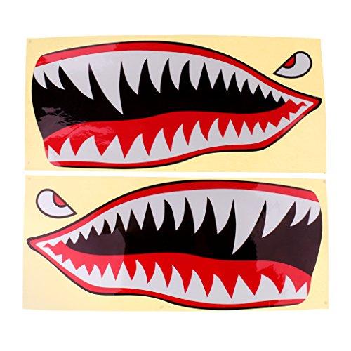 balikha 2 Piezas de Tiburón Boca Ojo Pegatina Calcomanía Kayak Barco Pesca