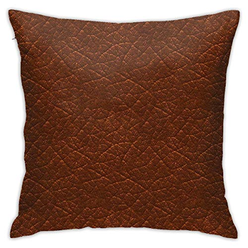 Traveler Shop Funda de Almohada Brown Jeans Funda de cojín Decorativa Throw Pillow Fundas Protectores, 18x18in