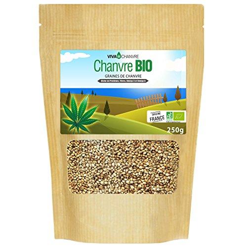 Graines de Chanvre Bio Entières - 250g (non décortiquées)