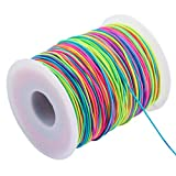 MKLEUTPS~ DIY Elastic Band Mehrfarben Breite 1/1,2/1,5mm Selbstgemachtes Seil ElasticBand