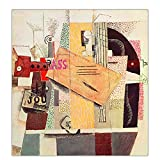 JLFDHR ZNNHEROPablo Picasso Girl with Mandolin, 1910' Canvas Oil Painting Art Poster Print Wall Home Decor-60X60Cmx1 Sin Marco