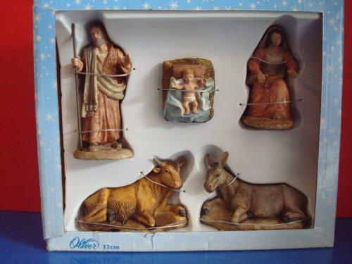 Figuras de la FA. Oliver, Figura tamaño 12cm, familia con Buey y Mula