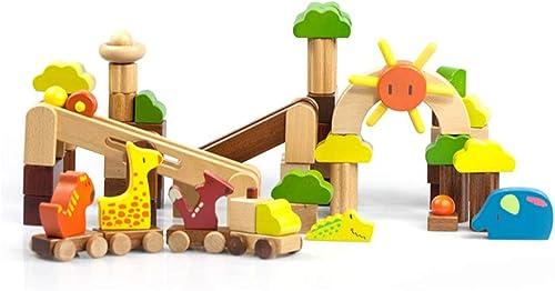 Envío 100% gratuito HXGL-Juguetes Juguetes Juguetes Juguetes de Madera Parques de Animales Bloques de construcción Rompecabezas Educación Temprana Regalos Piezas (Color  ordene ahora los precios más bajos