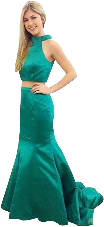 LISA.MOON Women's Jewel Sleeveless Button Back Mermaid Two Piece Evening Dress