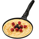 GOURMEX Black Induction Crepe Pan, with PFOA Free Nonstick Coating | Ideal Induction