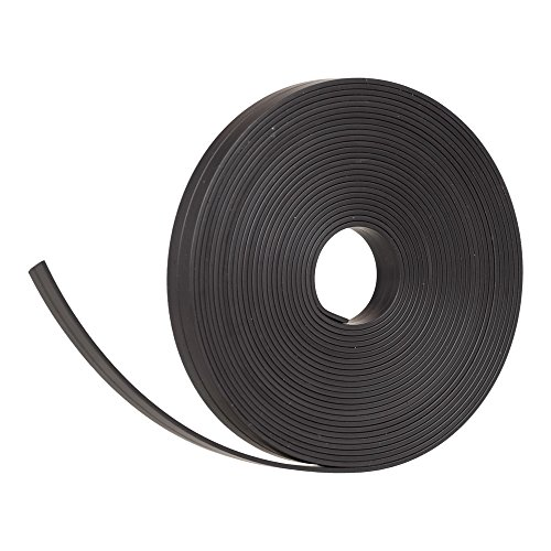 Cinta magnética negra de 5 m de largo y 10 mm de ancho para tableros magnéticos, refrigeradores y pizarras blancas