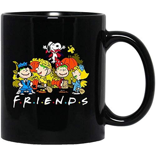 Halloween #Snoopy Friends #Charlie Brown #Woodstock Linus #Lucy Van Pelt Funny Horror Film Cinema FunnyCoffee Mug Gift for Women and Men Tea Cups