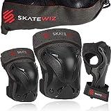 SKATEWIZ Protect-1 Skater Schutzausrüstung Kinder - Größe S in SCHWARZ - Ellenbogenschoner...