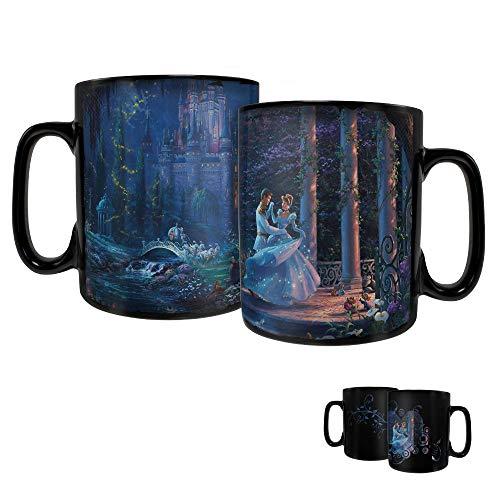 Disney Princess – Cinderella – Dancing in the Starlight Morphing Mugs Heat Sensitive Clue Mug – Full image revealed when HOT liquid is added - 16oz Large Drinkware