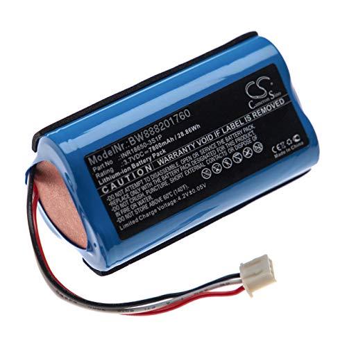 vhbw batería Compatible con Altec Lansing LifeJacket XL Rugged Altavoz Altavoces (7800mAh, 3,7V, Li-Ion)