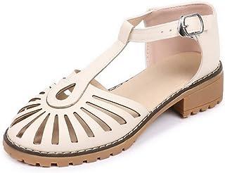 BalaMasa Womens ASL06742 Pu Platform Heels