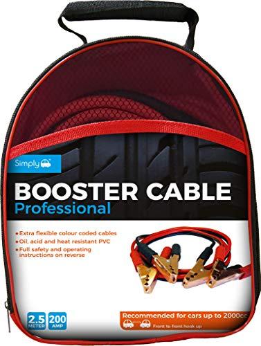 Simply SP200 professionnel Jump Leads/câble de Booster