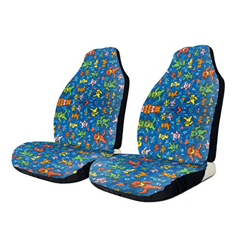 QINQ Grate-Ful Dead Dancing Bear Car Seat Cover Protector Cushion Premium Covers for Fits Most Cars, Truck, SUV Or Van