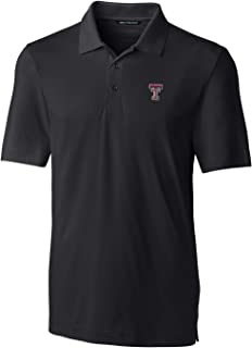 Cutter NCAA Texas Tech Red Raiders Short Sleeve Solid Forge Polo, Small, Black