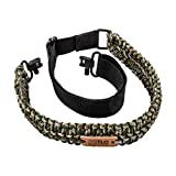 TLO Outdoors Paracord Gun Sling - Tactical 2-Point Rifle Sling, Extra Wide,...
