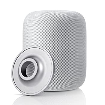 Circle HomePod Stand Aluminum Alloy Coaster Homepod Shock Proof Anti Slip Pad Compatible with Apple HomePod Speaker  Silver