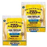 Del Campo Soft Corn Tortillas – 8 Inch Round. 100% Natural, Gluten Free and All-Corn Authentic...