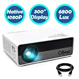 Projector,CiBest Q9 Native 1080P HD Video Projector 6800 Lux, up to 300' Image 2K Supported,Display Ideal for PPT Business Presentations Home Theater Entertainment Parties Games