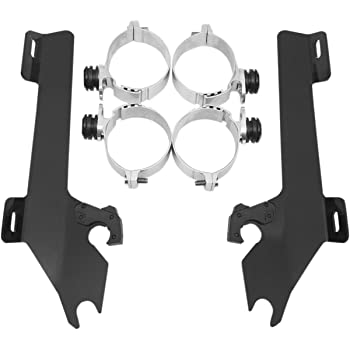 Memphis Shades MEM8985 Polished Trigger-Lock Mount Kit for Honda VTX1800 2002-2008