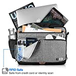 "Tomtoc 15. 6 inch laptop shoulder bag for 16-inch new macbook pro a2141, anti-shock laptop messenger bag briefcase fits… 11 compatibility - the shoulder bag is compatible with 15. 6"" laptop, 16-inch new macbook pro 2019, 15-inch macbook pro, 15 inch surface book 2, dell xps 15,10. 5"" ipad pro with apple pencil, etc. External dimension: 16. 30"" x 12. 60"". Large capacity – main compartment and 3 external pocket to house your laptop, ipad pro and all accessories needed. Ultra-protective – extra protective padding on the bottom of laptop pocket. Durable lining interior for better protection."