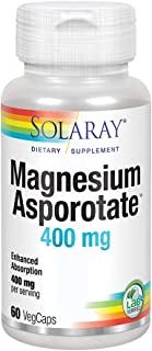 Solaray Magnesium Asporotate 400 mg | Aspartate, Orotate & Citrate Complex | Healthy Heart, Muscle, Nerve & Circulatory Function Support | 60 VegCaps