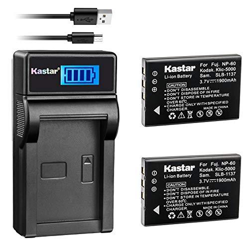 Kastar Battery (X2) & LCD USB Charger for URC 11N09T NC0910 RLI-007-1 MX-810 MX-880 MX-890 MX-950 MX-980 Universal Remote Controls