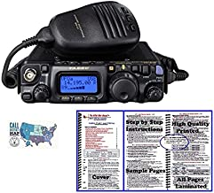 Yaesu FT-818 Radio and Accessory Bundle - 3 Items - Includes FT-818 HF/VHF/UHF All-Mode Portable QRP Transceiver, Nifty! Accessories Mini-Manual, and Ham Guides TM Quick Reference Card