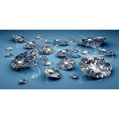 WeiXiDianZiShangWuYouXianGongSi Kit de pintura de diamantes brillantes 5D redondo completo de diamantes de imitación imagen de pared