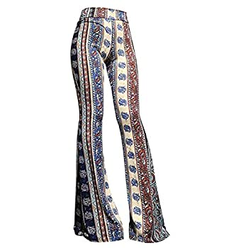 Women s High Waist Wide Leg Long Palazzo Bell Bottom Yoga Pants Comfy Lightweight Stretch Vintage 70s Flare Lounge Pant
