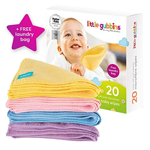 Wonder Care 25 count Assorted Color Prints with Bonus laundry bag- 5 X 7 Inches in a Vanity Box Reusable Baby Wipes- 100/% Cotton Flannel Cloth- 2 Layers