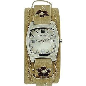 Kahuna orologio Donna Disegno Floreale Resistente acqua 3ATM cinturino