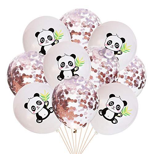 lhmlyl Vajilla CumpleañOs InfantilPanda de Dibujos Animados Tema Plato de Papel Tazas de panecillos Conjuntos de vajilla Desechables Decoraciones de Fiesta de cumpleaños Baby Shower Panda Party GLO