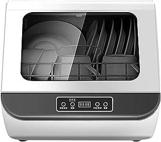 Dishwasher Mini Lavavajillas de sobremesa Lavado Inteligente Totalmente automático Sistema de Secado de Doble Efecto 3 Modos Botón táctil 1200W Blanco