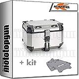 kappa maleta kfr480a k'force 48 lt + portaequipaje aluminio monokey compatible con ducati multistrada 1200 2011 11