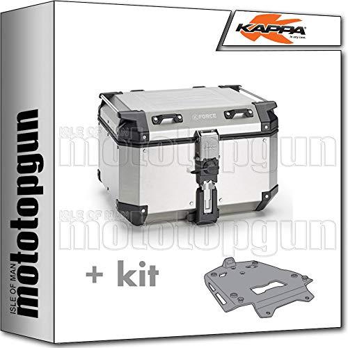 kappa maleta kfr480a k'force 48 lt + portaequipaje aluminio monokey compatible con bmw r 1200 gs 2015 15 2016 16