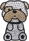 Love Your Breed Rhinestone Sticker, Bulldog
