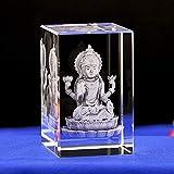 RFGTH Estatuas y esculturas de jardín Animales Cubo de Cristal de Cristal Figuras de Grabado India T...